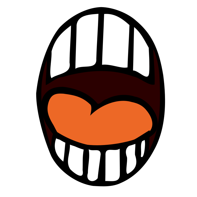 Mouth sealed scary clipart.