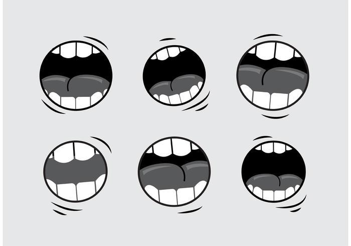 Mouth Talking Vectors.