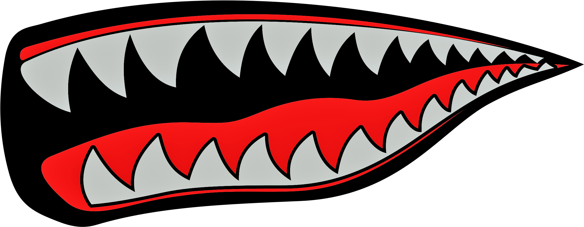 Shark Mouth Free Vector Clipart.