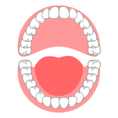 Caries in the Mouth Clipart Free Picture|Illustoon.