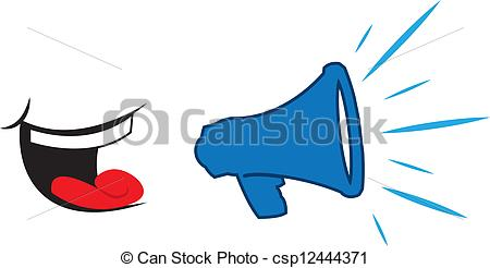 Vectors Illustration of Megaphone Yelling Mouth.