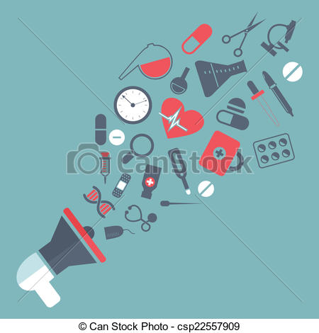 Vector Clipart of medicine mouthpiece.