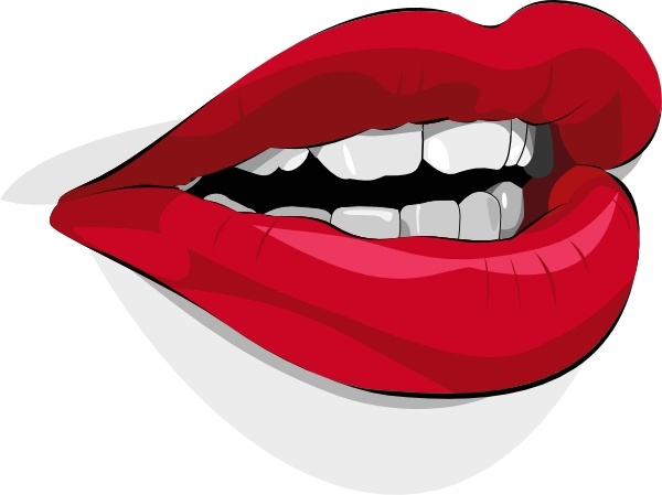 Mouth clip art Free vector in Open office drawing svg ( .svg.