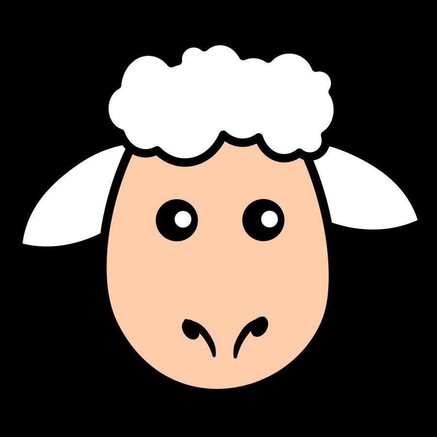 Lamb face clip art free clipart images.