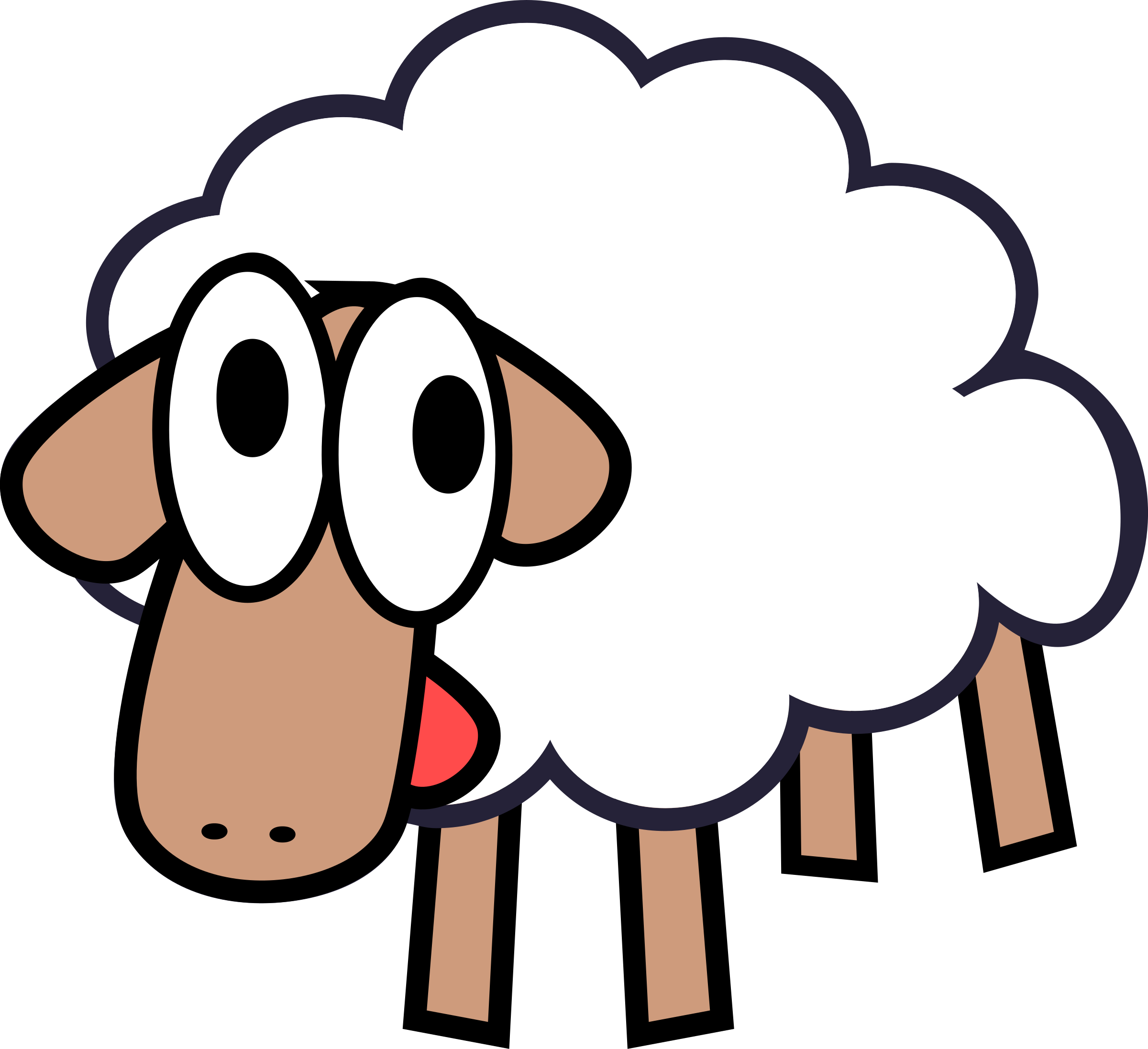 Lamb clipart mouton, Lamb mouton Transparent FREE for.
