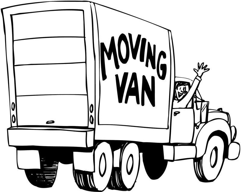 Office move clip art.