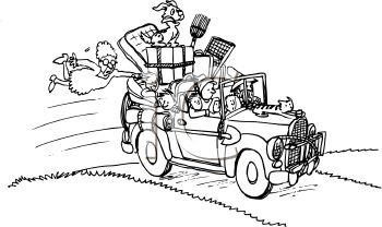 Moving Car Live Clipart.