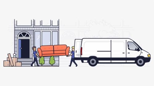 Transparent Delivery Van Clipart Png.