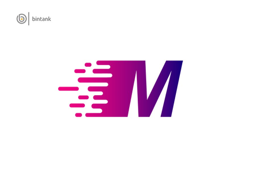 Fast Move M Letter Logo.
