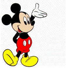 Mickey Mouse Moving Animation Clip Art.
