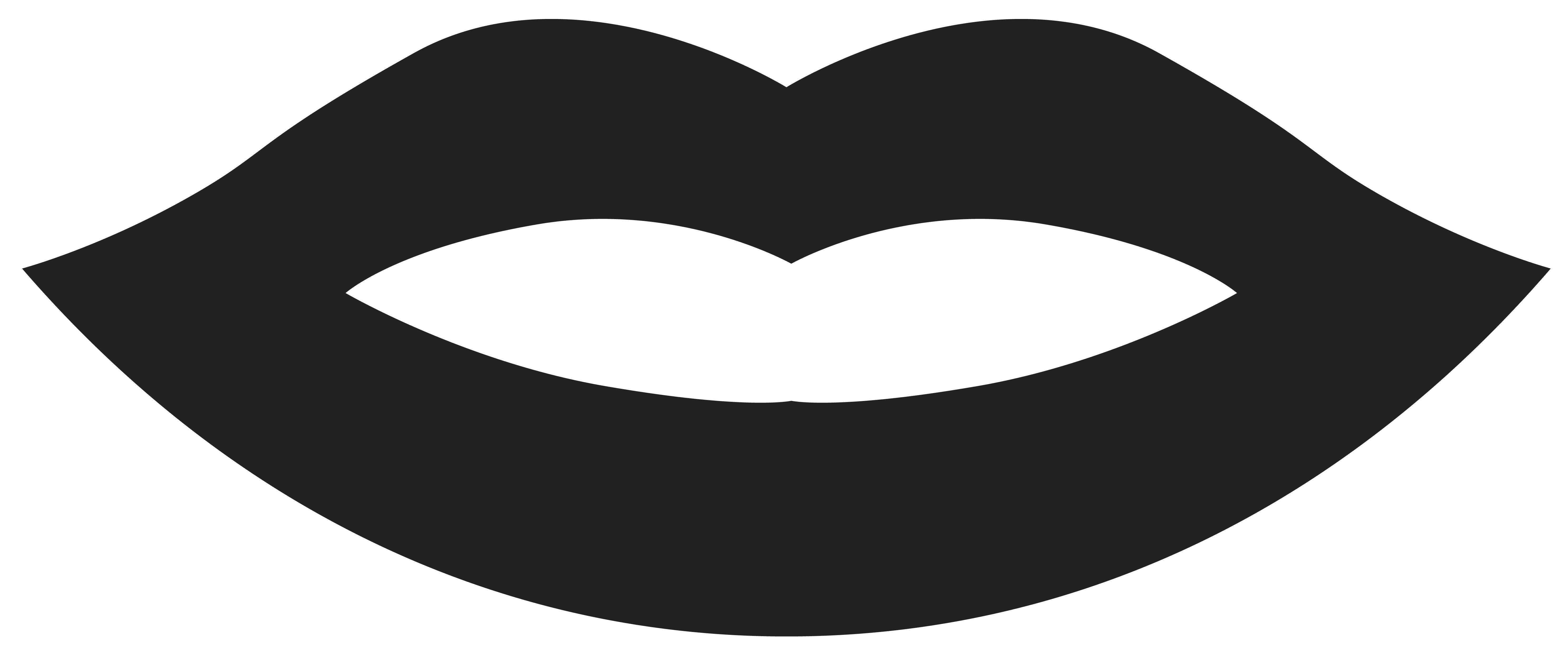 Movember Lips PNG Clipart Image.