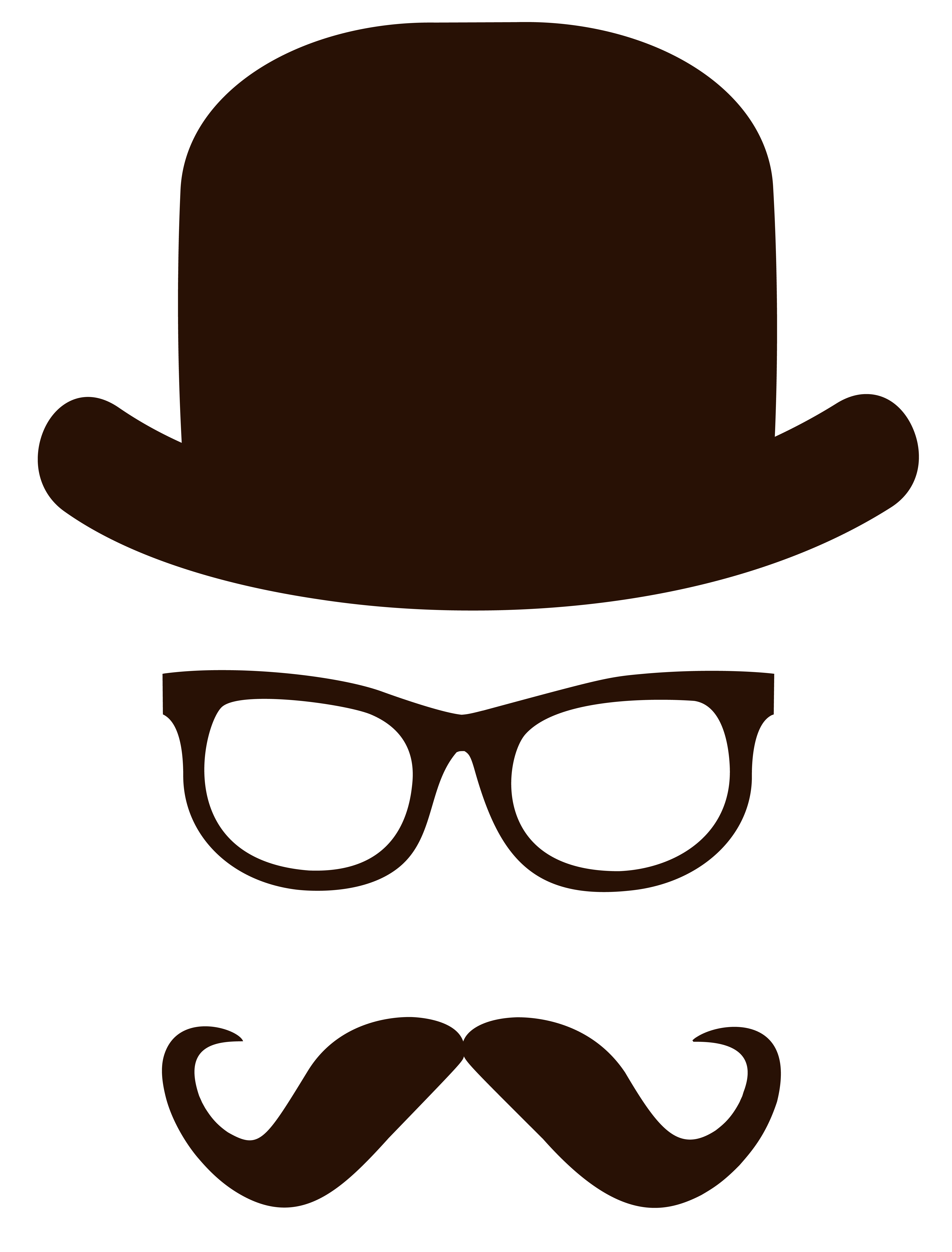 Movember Face PNG Clipart Picture.
