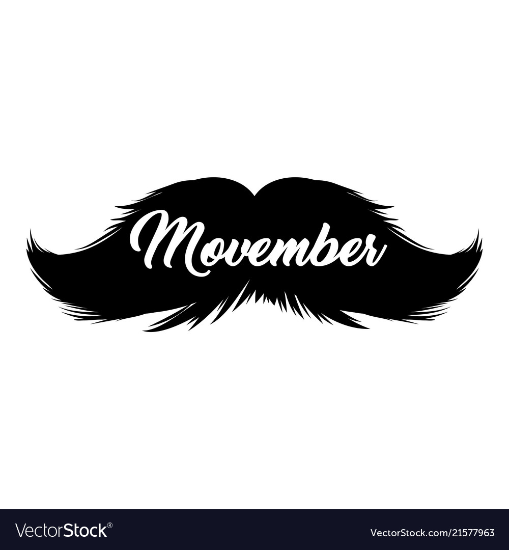 Moustaches movember clipart black isolated.