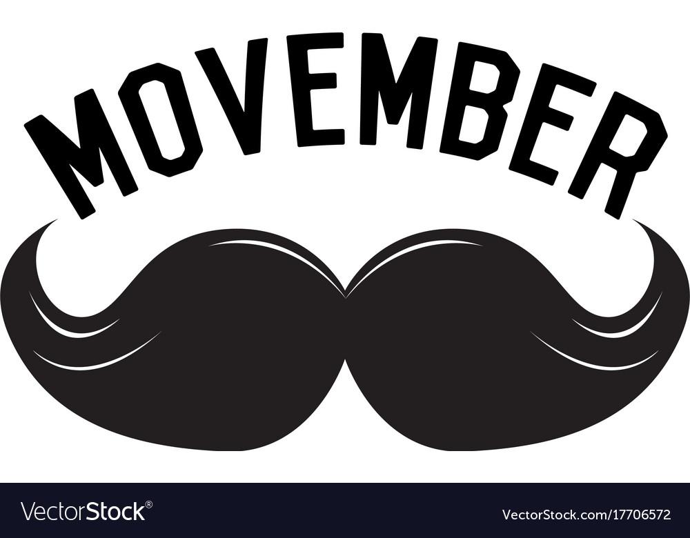 Movember graphic design.