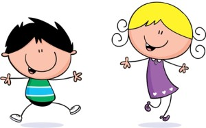 Kids movement clipart.
