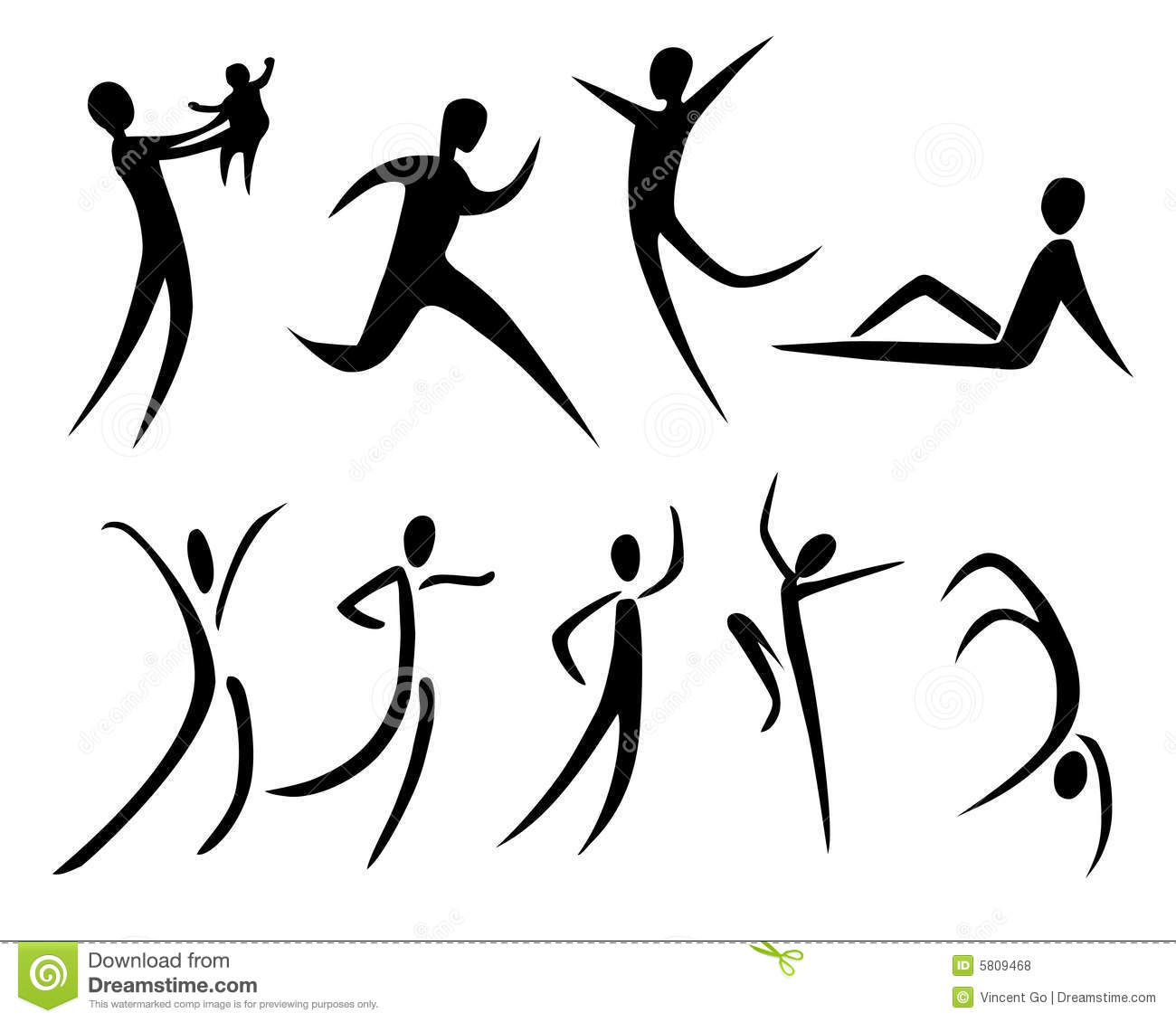 Body movement clipart.