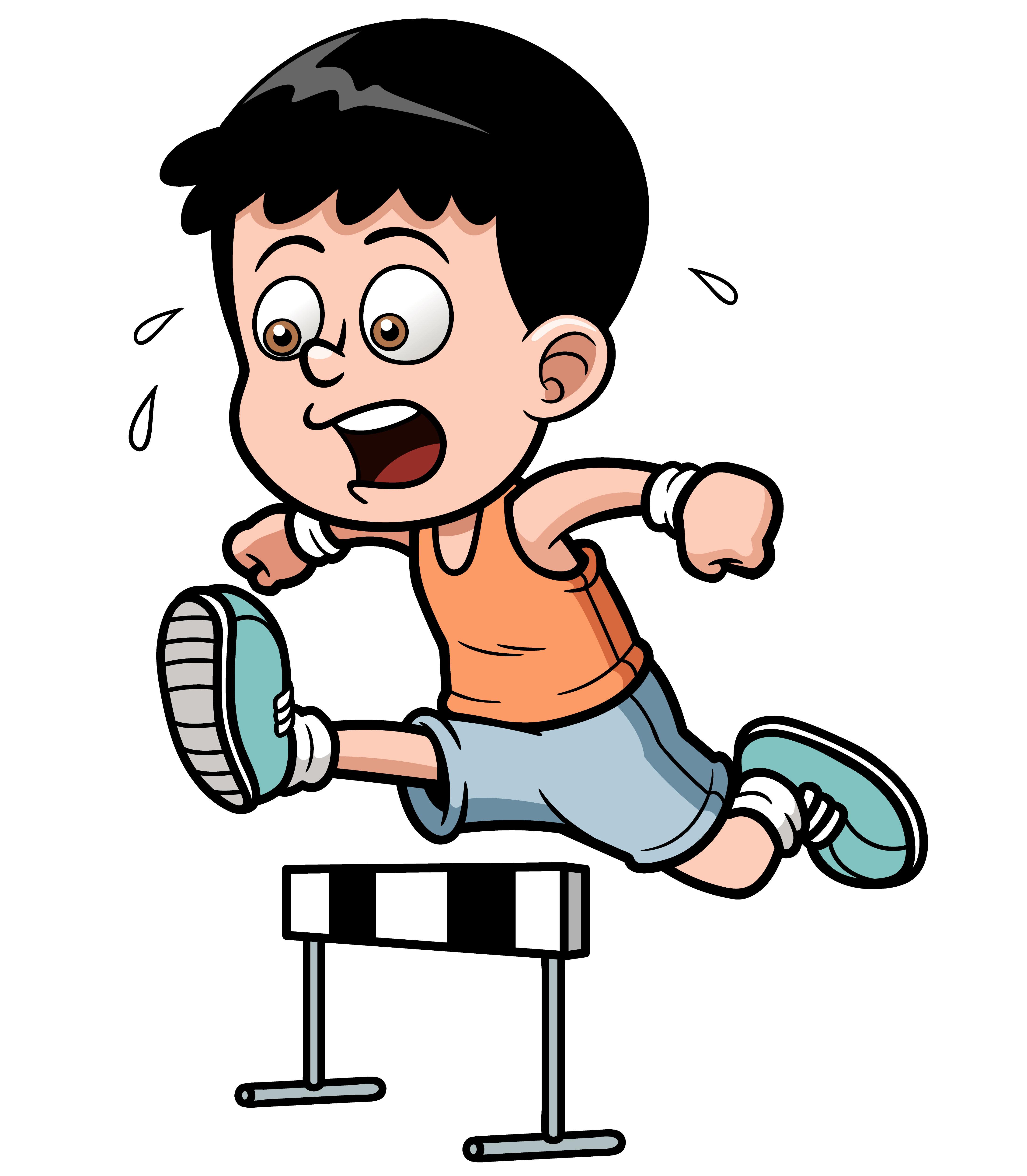 child running clip art