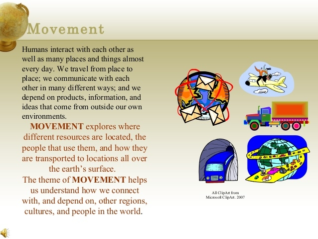 Movement Geography Clipart.
