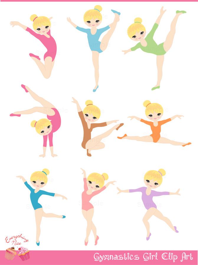 Gymnastics Cartoon Clip Art Free.