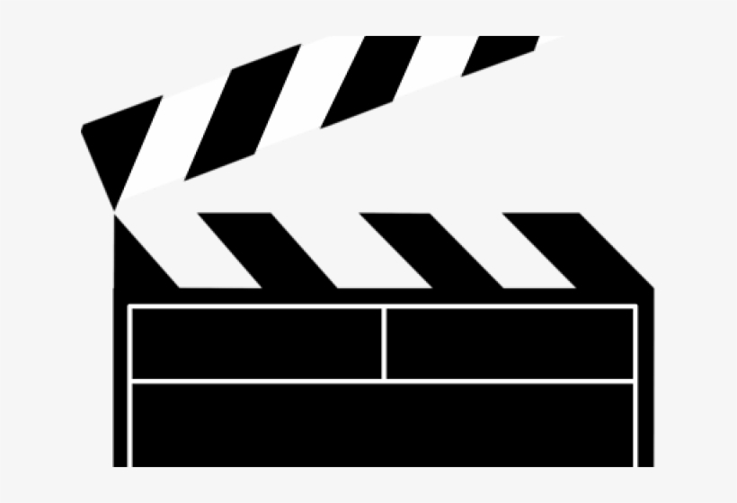 Clapperboard Clipart Movie Action Thing.