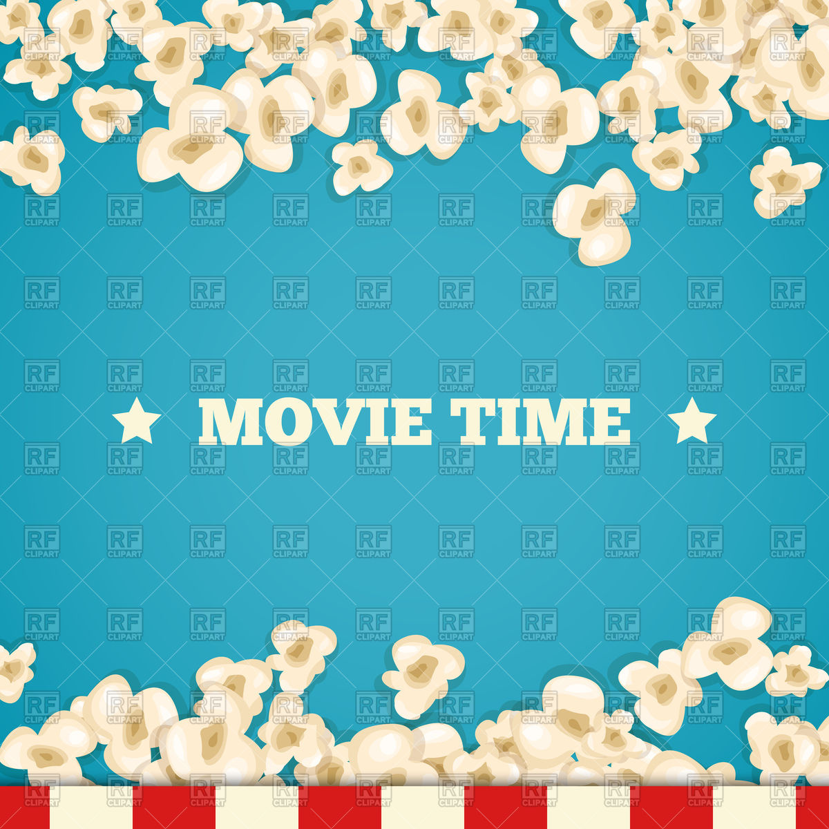 Heap popcorn for movie background Stock Vector Image.