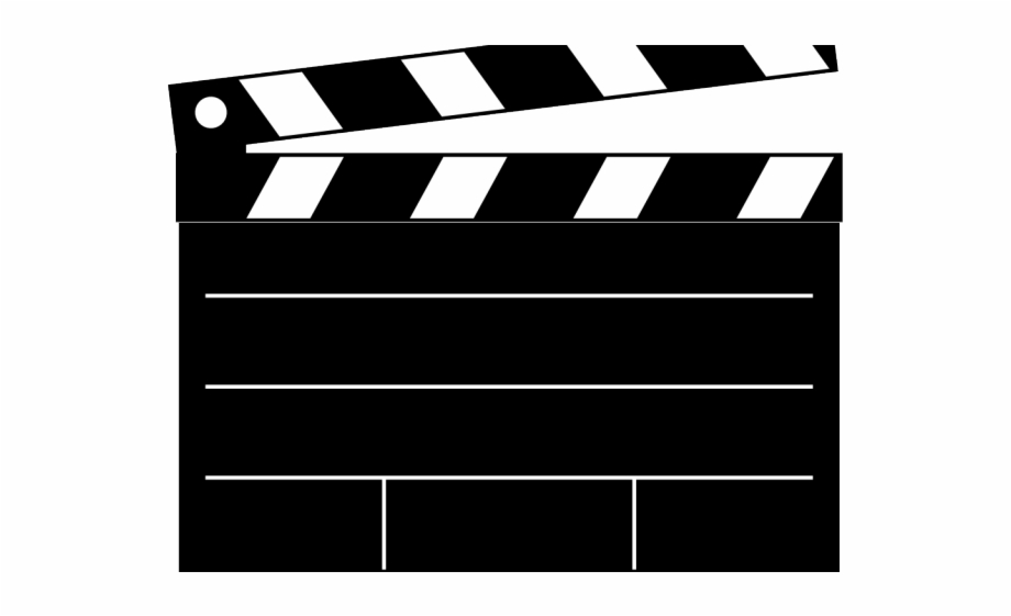 Clapperboard Clipart Scroll.