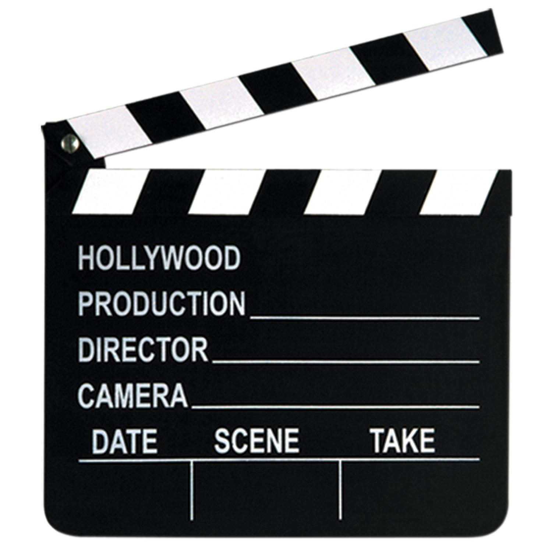 Movie Clapper Board Clip Art free image.