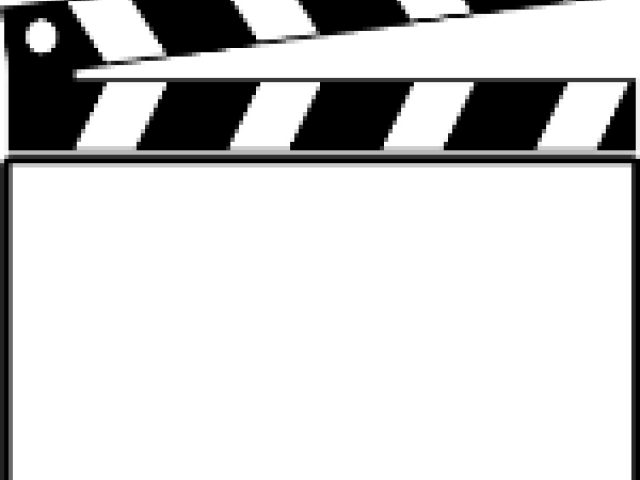 HD Clapperboard Clipart Movie.