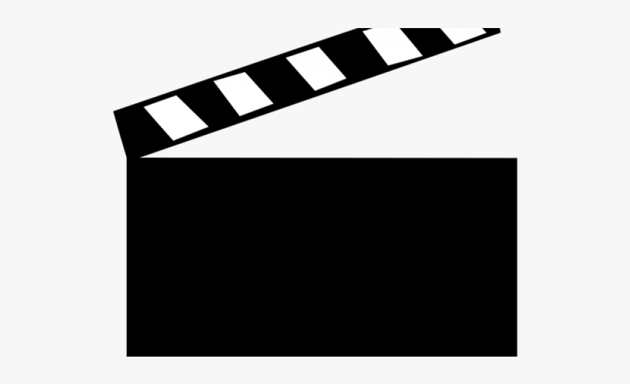 Clapperboard Clipart Vector.
