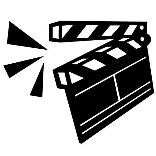 Movie clip art image free clipart image.