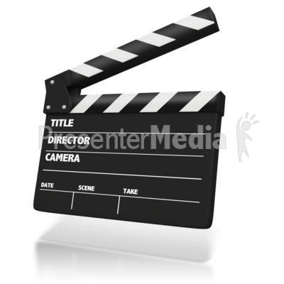 Film Clap Board.
