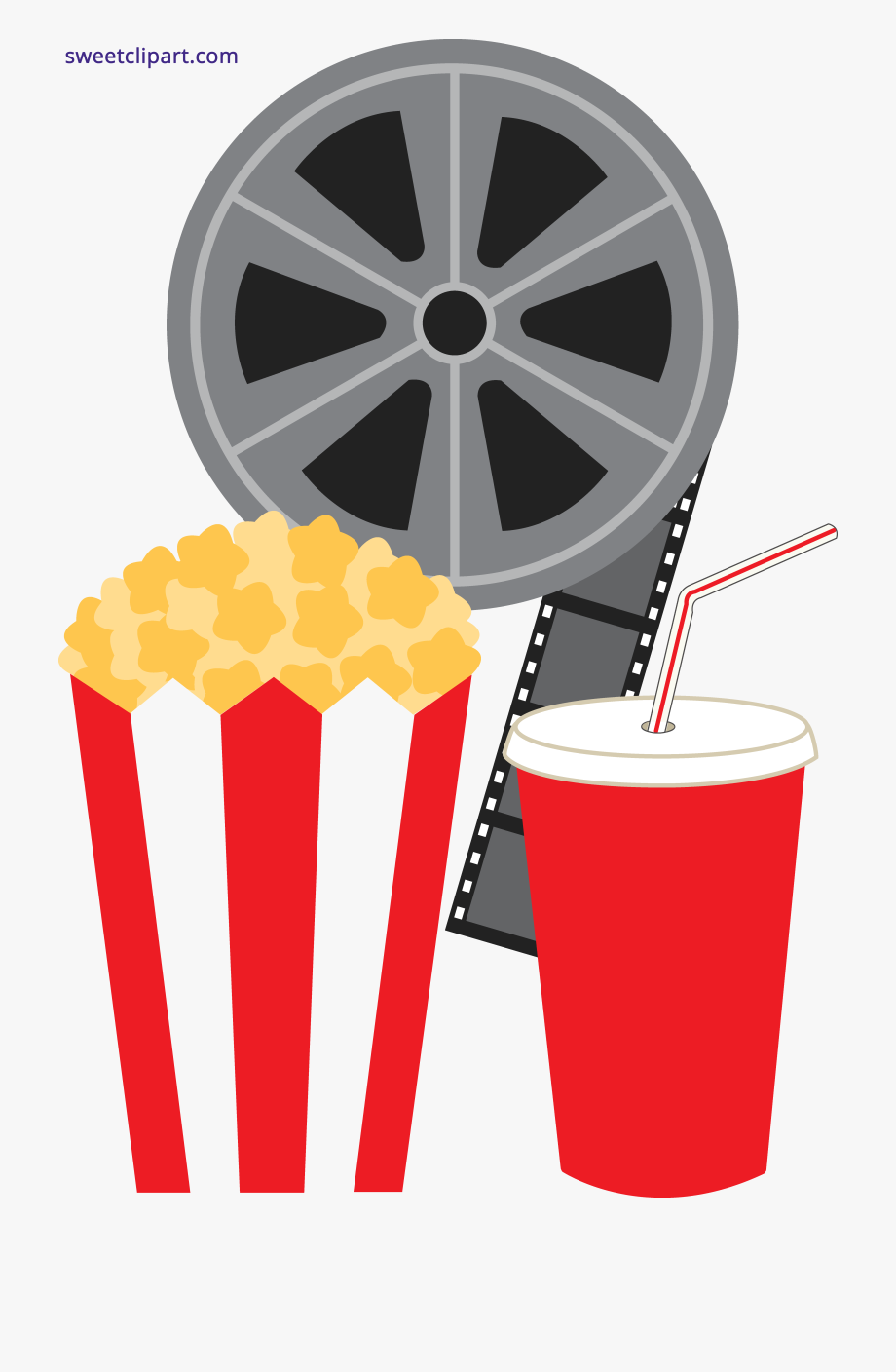 Soda Popcorn And Movie Clipart Transparent Png.