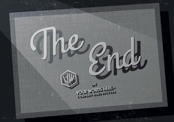 The End Credits Vector.