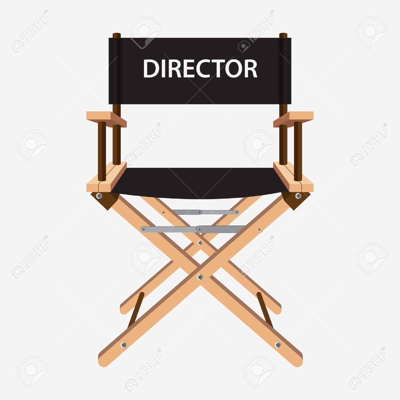Film director chair. Wooden movie director chair. Vector illustration...