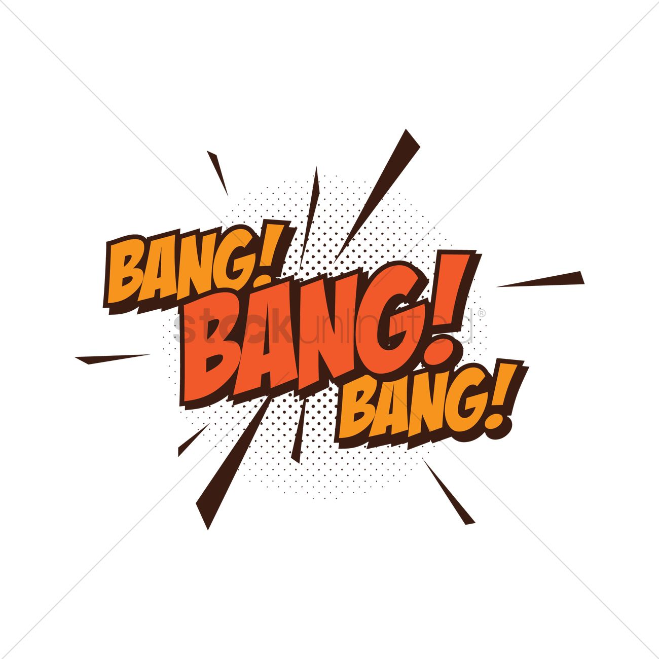Bang text with comic effect Vector Image.