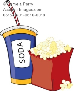 Movie Theater Food And Drinks Clipart.