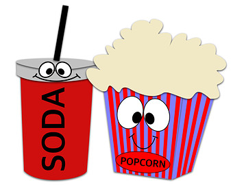 Movie Theater Food Clipart.