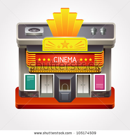 Illustration Cinema Theater Movie House Stock Vector 105174509.