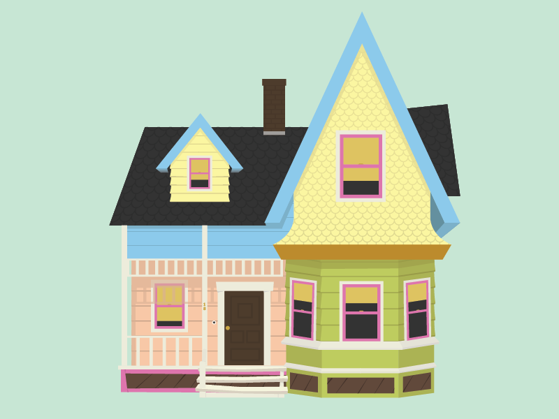 Up Movie House Clipart.