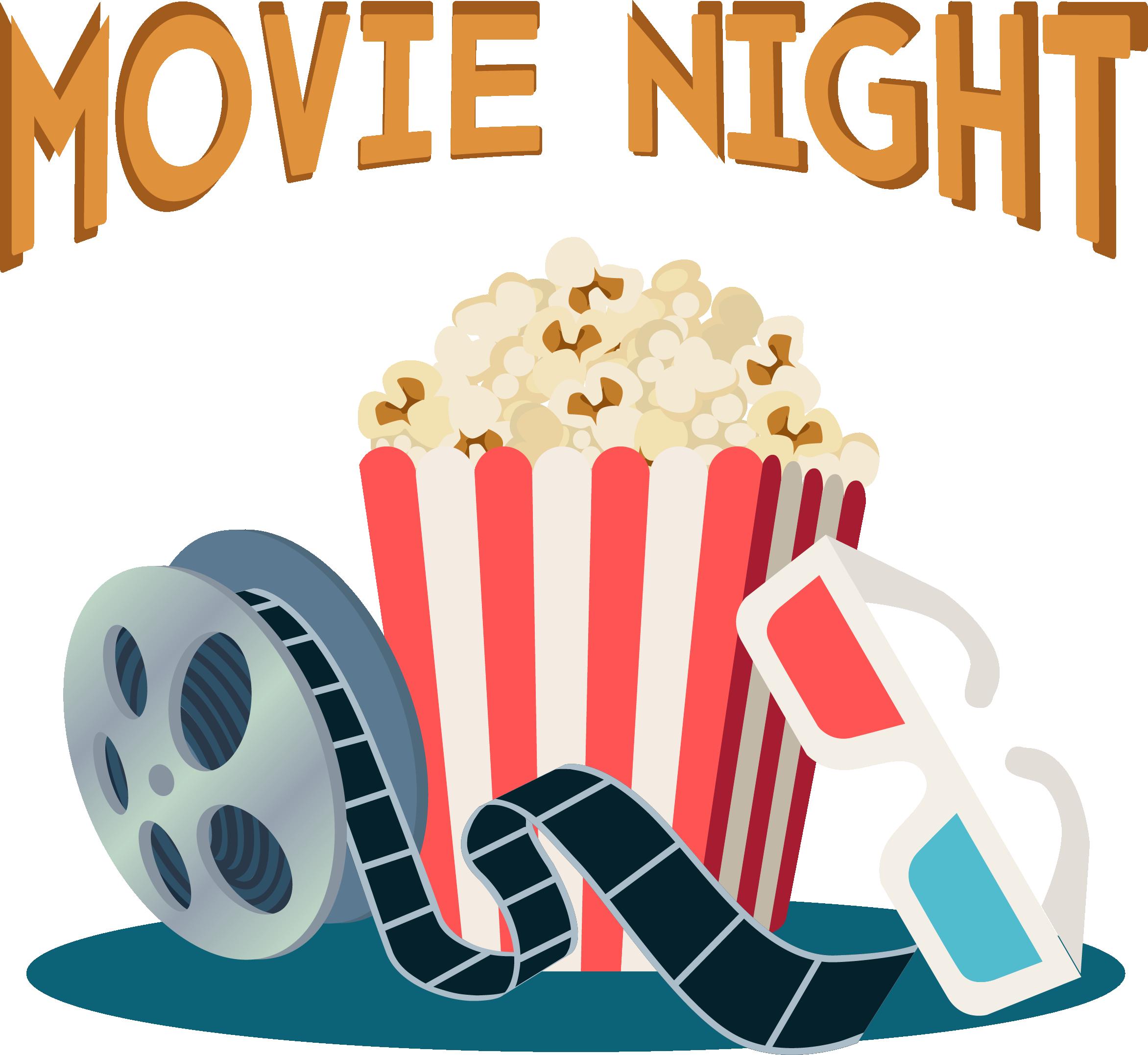 Film clipart movie night, Film movie night Transparent FREE.