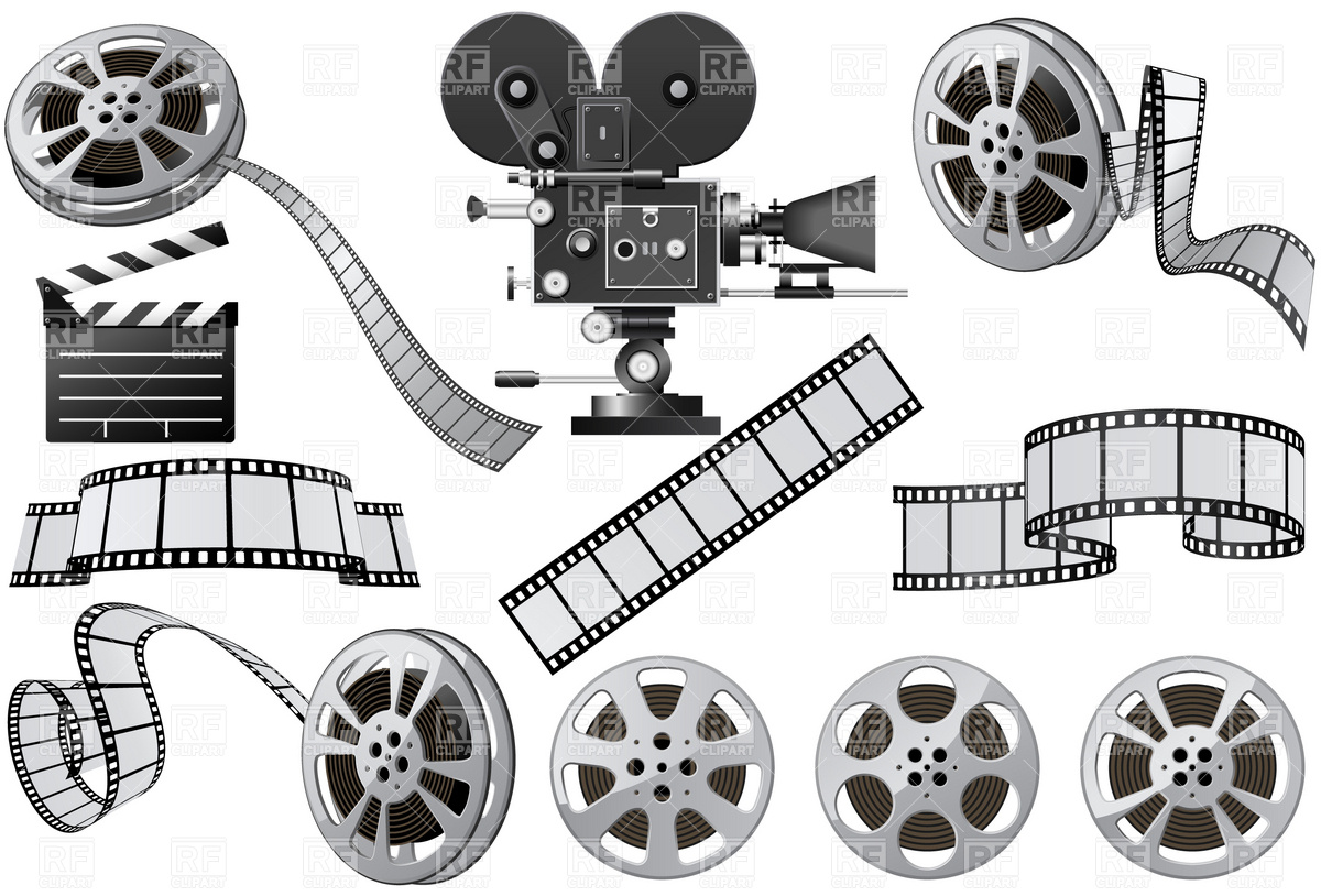 Film industry clipart.