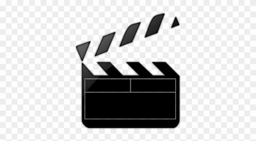 Clapperboard Clipart Movie Trailer.