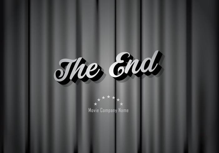Silent film movie ending background.