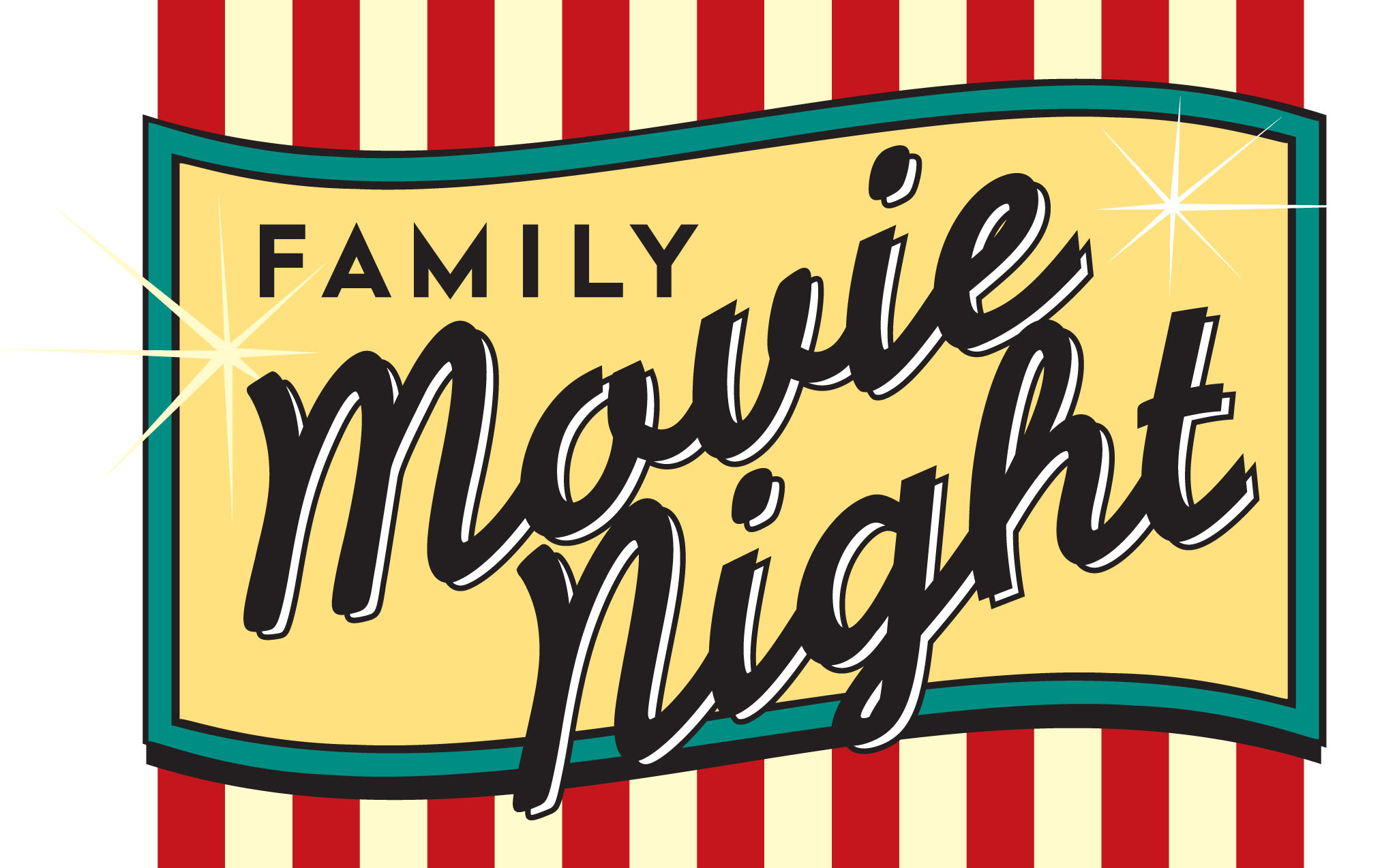 Family Movie Night Clipart.