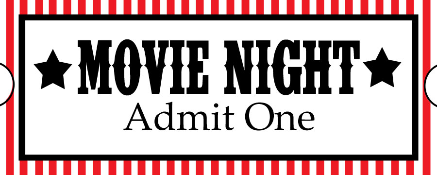 Movie Night Ticket Clipart.