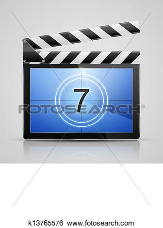 Clip Art of Movie player icon k13765576.
