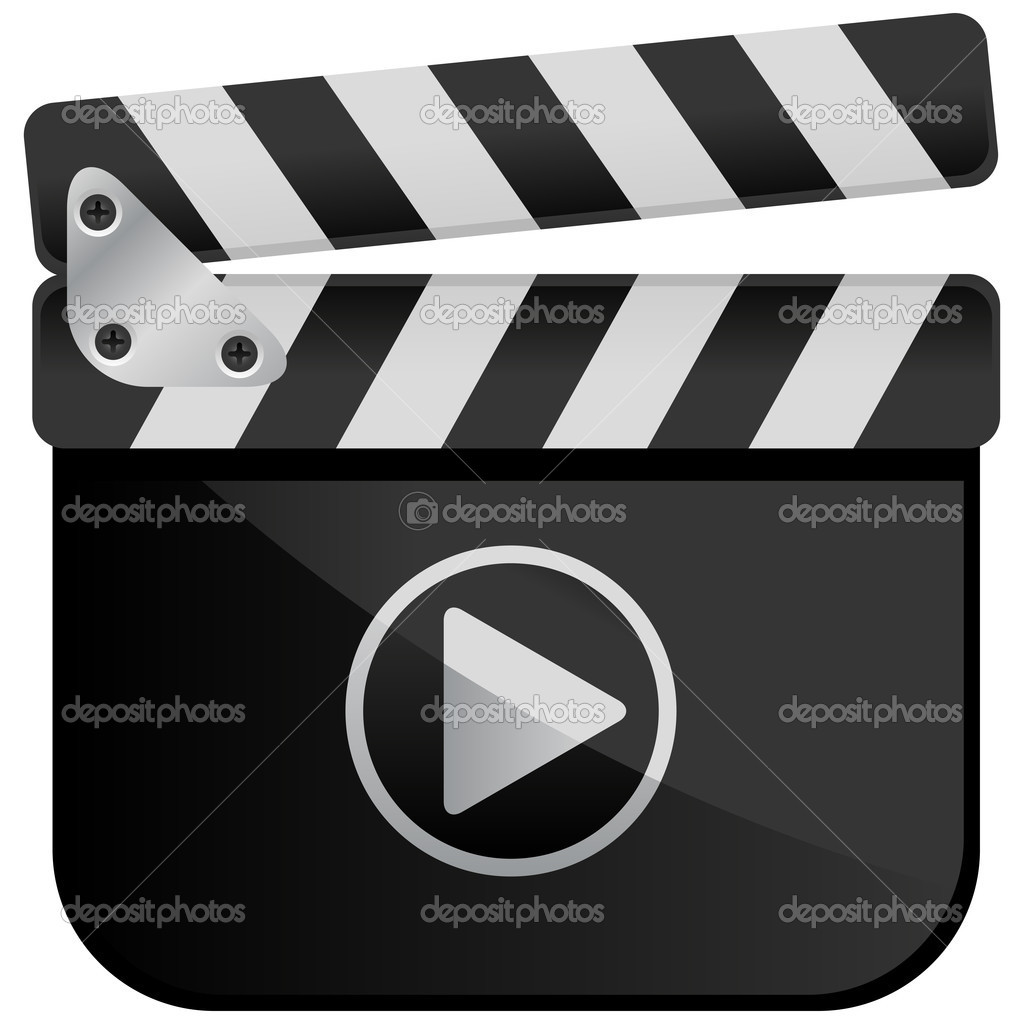 Movie Media Player Film Slate — Stock Vector © brancaescova #10461289.