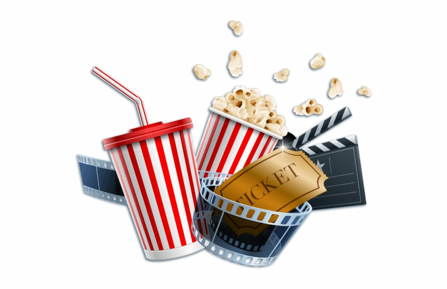 Drinking And Drug Use Movie Popcorn And Drink Png.
