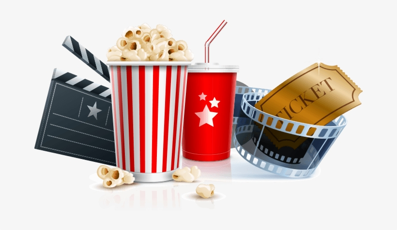 Movie Popcorn And Drink Png Download.