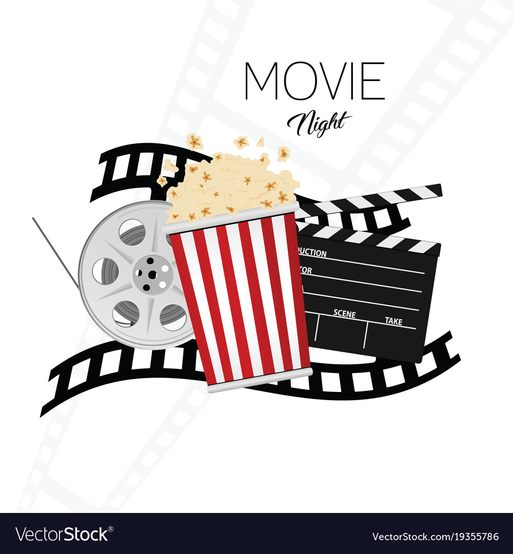 Cinema and movie night background two.
